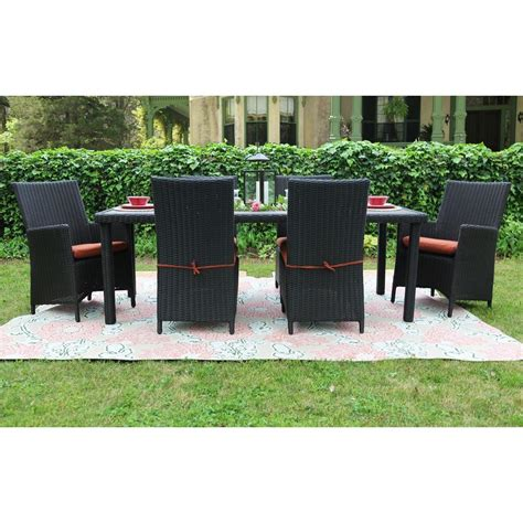 all weather wicker patio dining sets ae outdoor denali 7 all weather wicker patio dining