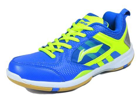 Sepatu Badminton Lining Anak jual sepatu bulutangkis badminton lining icon blue