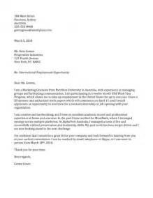 Sample work visa cover letter