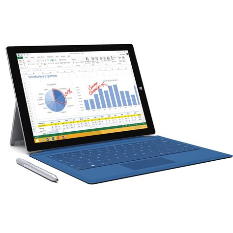 Tablet Microsoft Surface Pro 3 microsoft 12 quot 64gb surface pro 3 multi touch 4ym 00001 b h