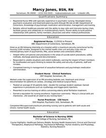 registered rn resume sle
