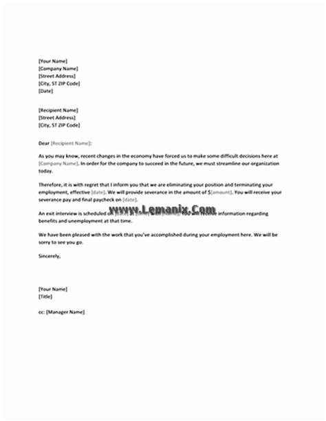 Notification Template by Notification Letter Templates To Employee Of Layoff For