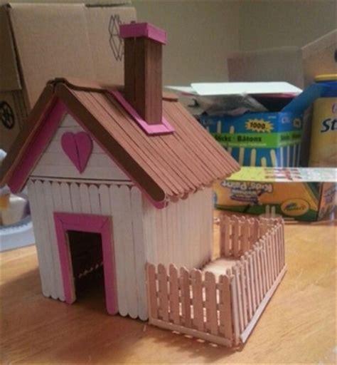 casa con palitos de madera manualidades para ni os casas de palitos de paleta que no cre 237 as poder hacer