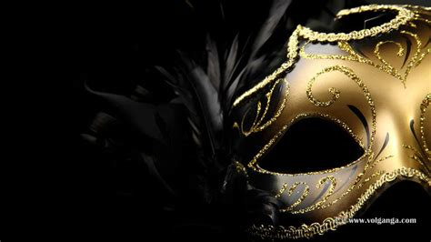Masker Gold enigmatic masquerade masks wallpaper collection volganga