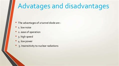 schottky diode advantages and disadvantages tunnel diode advantages and disadvantages 28 images tunnel diode sunum 1000 images about