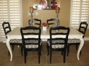 White And Black Dining Room Table Sense And Simplicity Painting The Dining Room Table