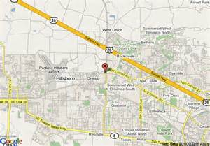 maps hillsboro oregon map of springhill suites portland hillsboro hillsboro