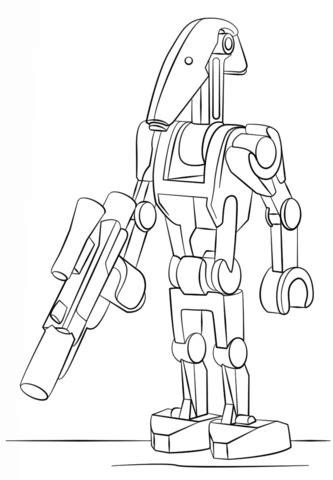 star wars battle droid coloring page coloriage dro 239 de de combat lego coloriages 224 imprimer