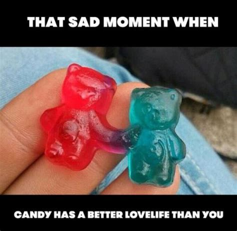 Sad Memes About Love - that sad moment when candy has a better lovelife than you