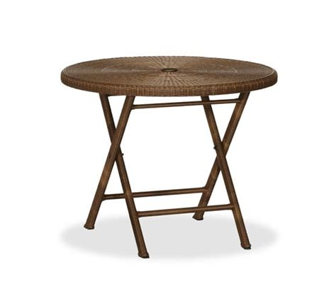 bistro folding accent table palmetto all weather wicker folding bistro table chair