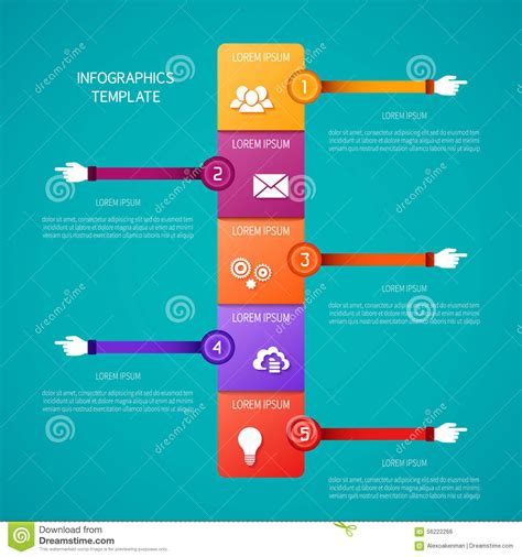 abstract vector timeline infographic template in flat