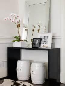 Contemporary Entryway Table Black Lacquer Cosnole Table Contemporary Entrance Foyer Ferreira Design