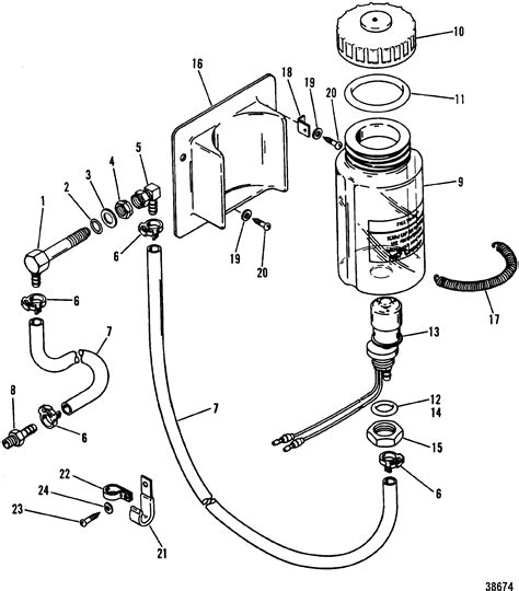 one parts reservoir components bottle for mercruiser