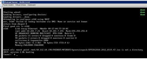 hewlett packard enterprise community re pxe boot image