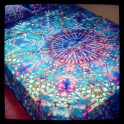 psychedelic bed set organic hand dyed queen sheet set water mandala