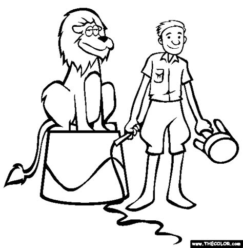 Lion Tamer Coloring Page | circus lion tamer clipart clipart panda free clipart