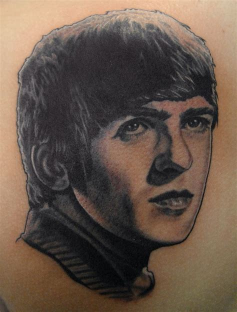 famous people tattoos george harrison tattoomagz