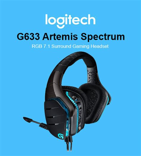 Headset Gaming Sades Logitech G633 Artemis logitech g633 artemis rgb wired 7 1 surround sound gaming headset