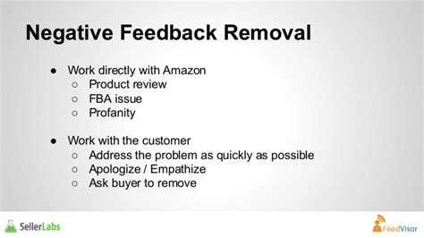 remove negative feedback amazon fba how to leverage your