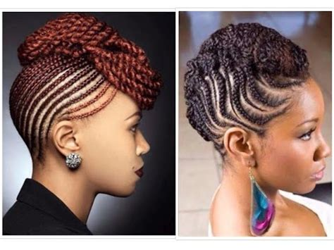 a sophisticated weave fir a older african american women 40 natural classy braided and twisted updo youtube