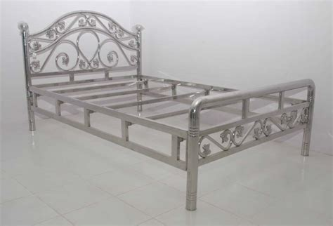 High Metal Bed Frame Buy Steel Beds From Zaid Interior New Delhi India Id
