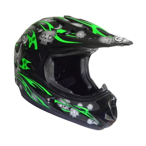 Spark Helm Helmet Hitam Doff Hijau jual snail helmet motif tengkorak mx306 youth helm motocross anak hitam hijau doff
