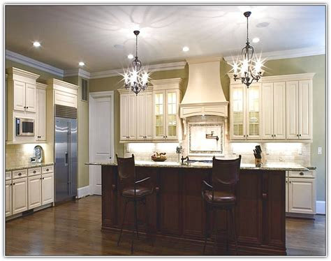 Antique White Kitchen Cabinets With Chocolate Glaze   Home