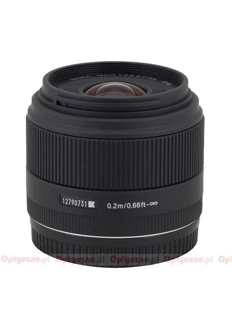 Lensa Sigma Wide Angle 19mm F2 8 lenstip lens review lenses reviews lens