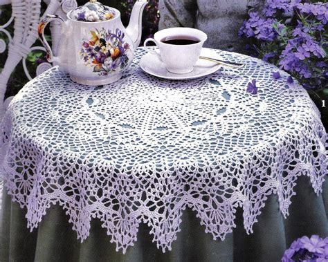 pattern crochet round tablecloth round crochet tablecloth patterns booklet by stitchyspot