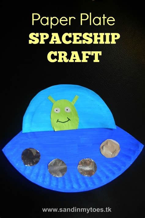 space craft projects busy paper plate spaceship spaceship craft and