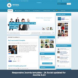 template joomla social release updates on joomla templates magento themes and