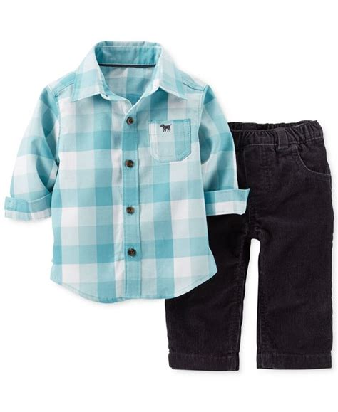 corduroy carters s baby boys 2 flannel shirt corduroy