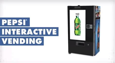 Interactive Gift Card Vending Machine - pepsi takes vending machines high tech geek com