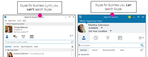 Searching For On Skype Search For In Skype For Business Skype For Business