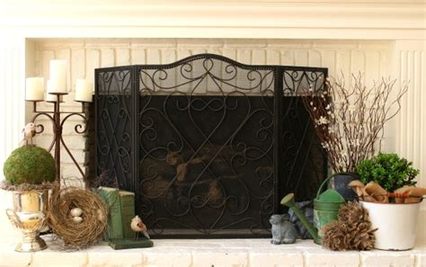 hearth decor spring decor decorating my hearth my soulful home