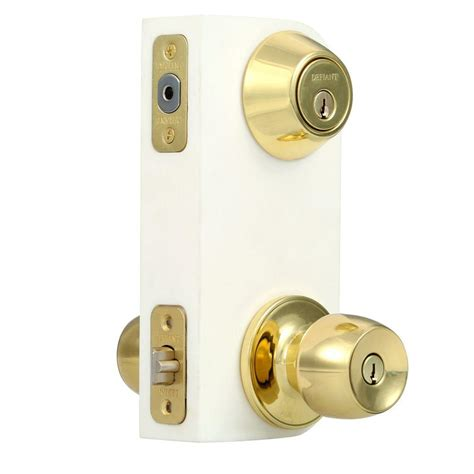 Door Lock Combo Pack by Defiant Brandywine Single Cylinder Polished Brass Entry Project Pack B87l1d The Home Depot