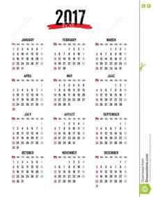 Calendario Week 2017 12 Month Calendar Template 2017 Calendar Printable 2017