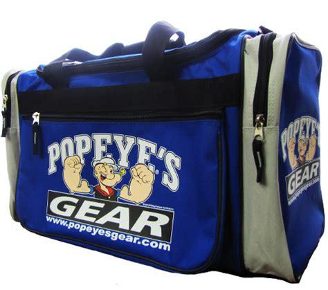 popeye s supplements popeye s gear deluxe bag blue www
