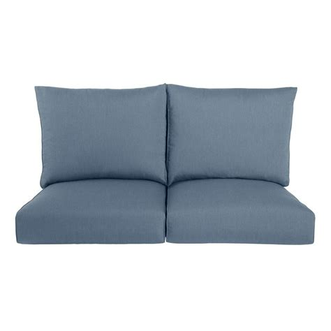 outdoor loveseat cushion replacement martha stewart living lily bay lake adela surf replacement