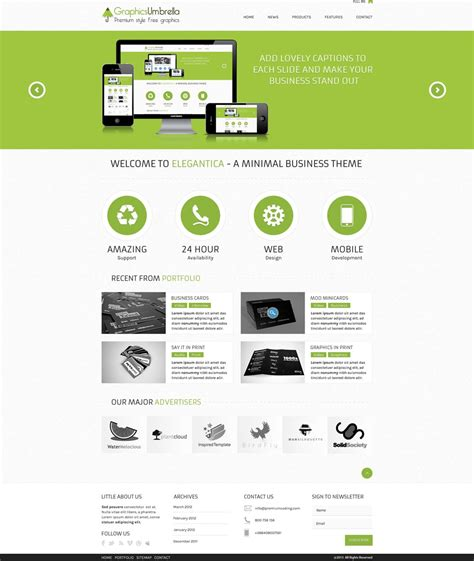 Free Web Templates by Free Corporate And Business Web Templates Psd
