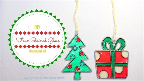 diy faux stained glass ornament kit adorno en imitacion