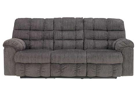 reclining sofa with drop down console morrison s furniture acieona slate reclining sofa w drop