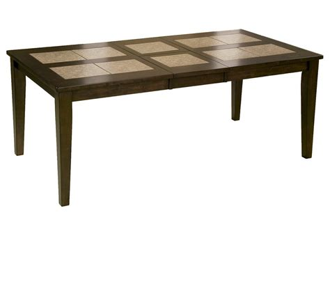 dining room table with butterfly leaf dreamfurniture com piedmont tile top dining table with