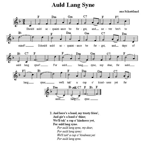 printable lyrics auld lang syne 17 best images about sheet music on pinterest piano