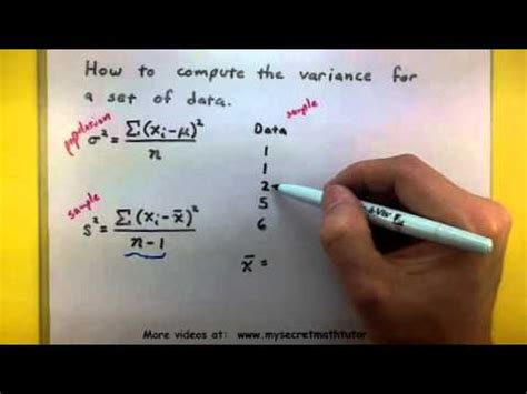 How To Find You In Statistics Find The Variance