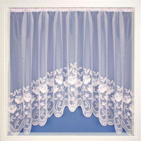 Salisbury white jardiniere net curtain 2 curtains