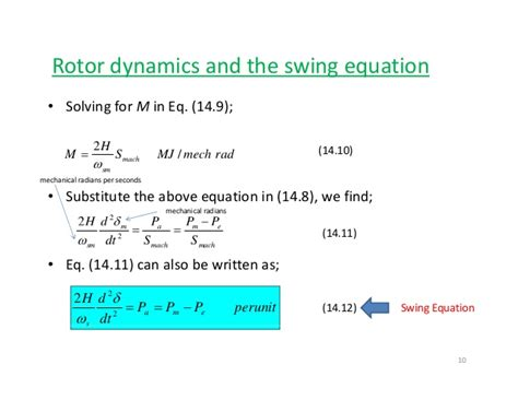 power swing equation power system stablity