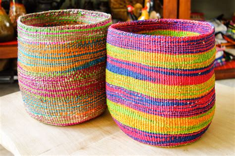 colorful woven baskets goodie s interiors gifts