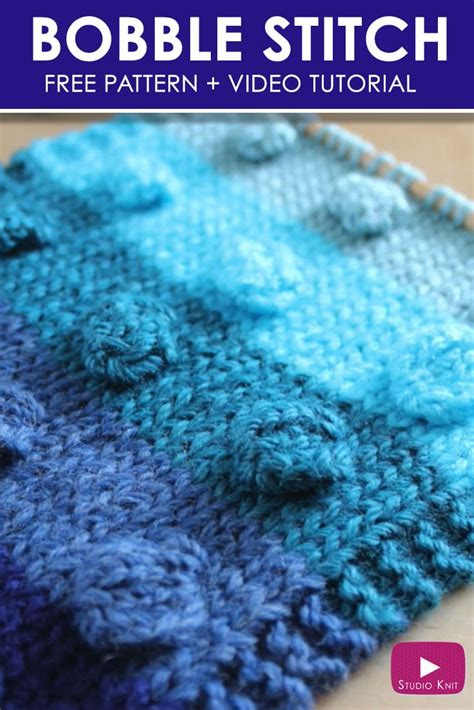 video tutorial knitting how to knit the bobble stitch pattern with video tutorial