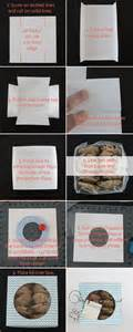 How To Make A Cookie Box Out Of Paper - easy diy folded paper cookie treat gift box tutorial